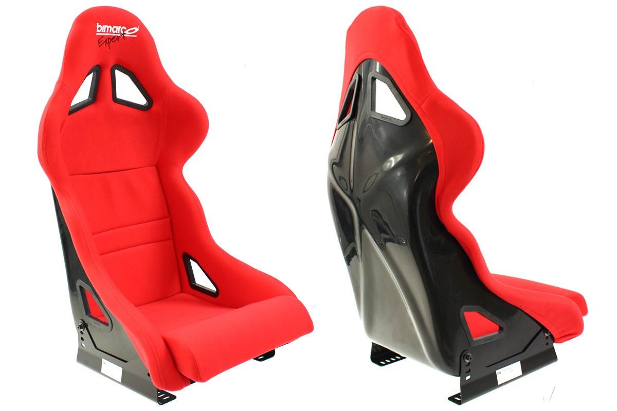 Fotel Sportowy Bimarco Expert II Welur Red FIA - GRUBYGARAGE - Sklep Tuningowy